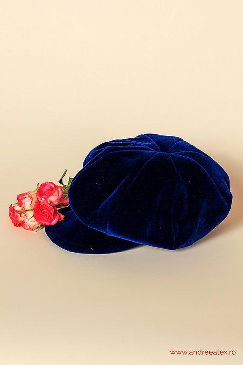 Șepcuță catifea - bleumarin