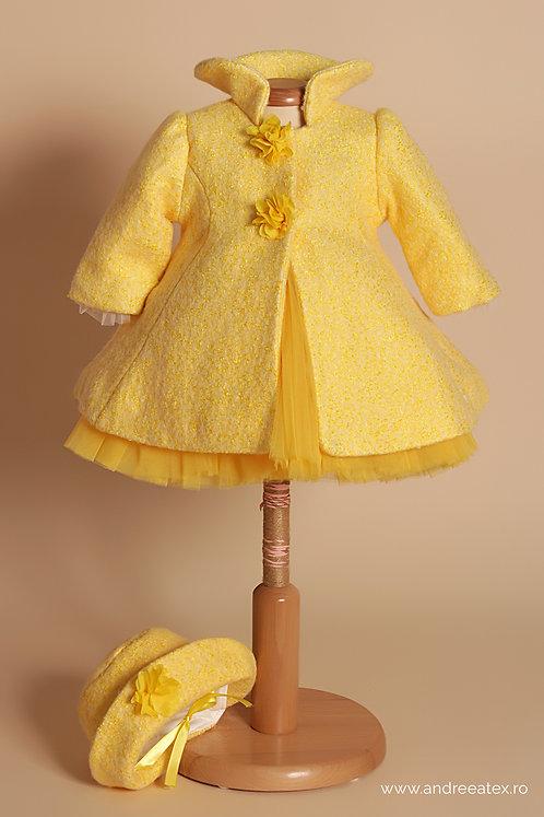 Paltonaș Prințesa Sissi-galben