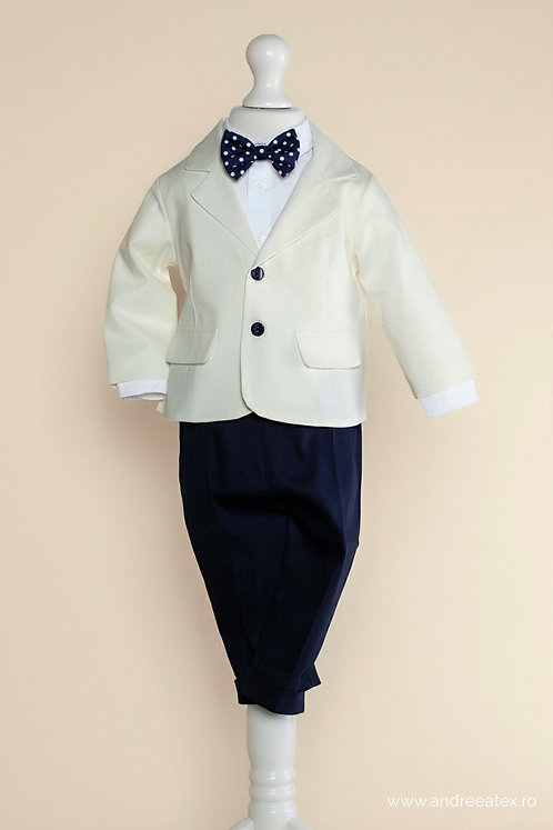 Costum băieți - ivoire (1-4 ani)