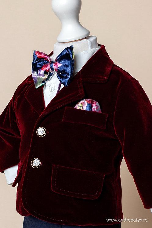 Costum Ralph - burgundy (3luni-2ani)
