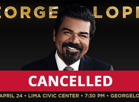 The Veterans Memorial Civic & Convention Center George Lopez Tour Date Cancelled