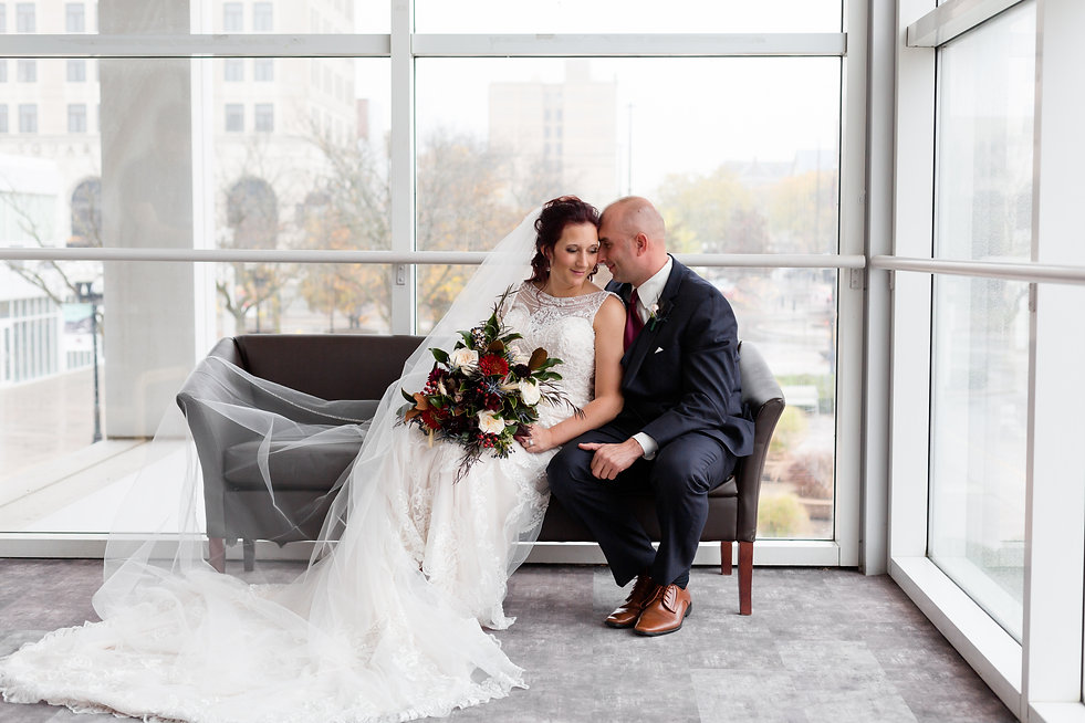 Lima Civic Center Wedding - Kunkleman Wedding - Bride + Groom - Capt