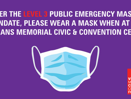 Masks Required for Allen County and the Civic Center