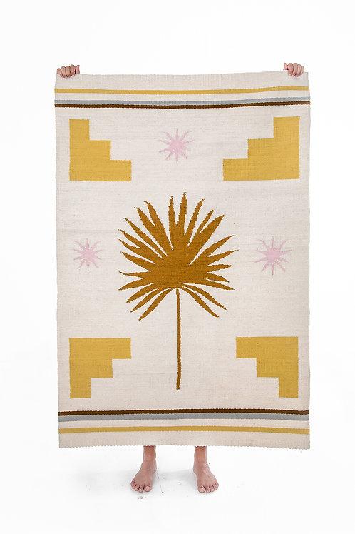 Yellow Palm Rug