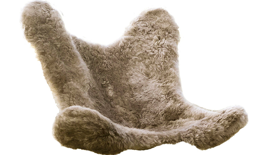 Housse en Mouton rasé taupe