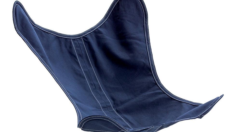 Housse en coton bleu marine