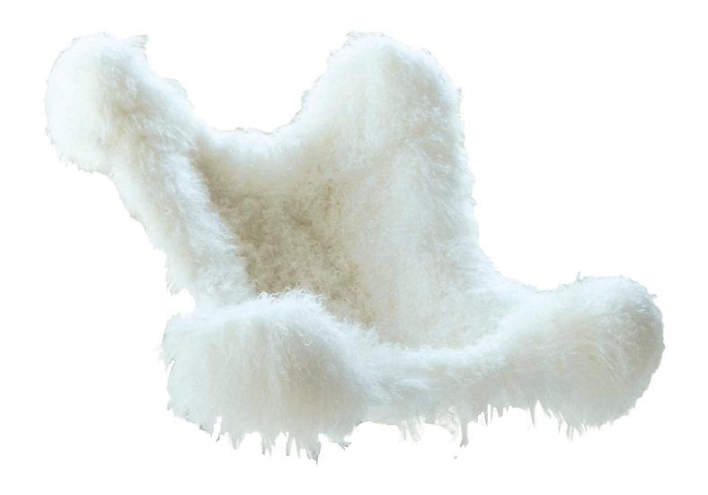 Housse en agneau du Tibet Blanc