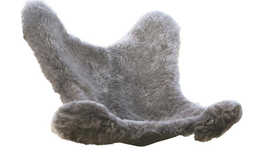 Housse en Mouton rasé gris