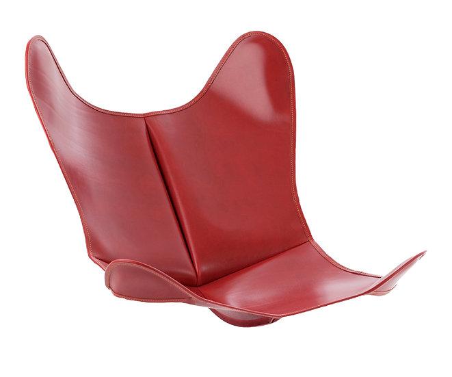 Housse en cuir Lisse Rouge