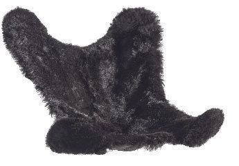 Housse en Mouton rasé noir