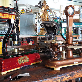 Antique Scales and Cash Registers