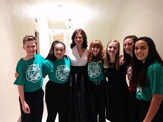 FHCC students following the KCDA Treble Honor Choir Concert at KMEA, 2020