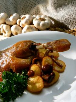 confit canard aux pommes salardaises