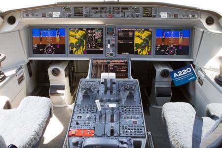 A220 flight deck