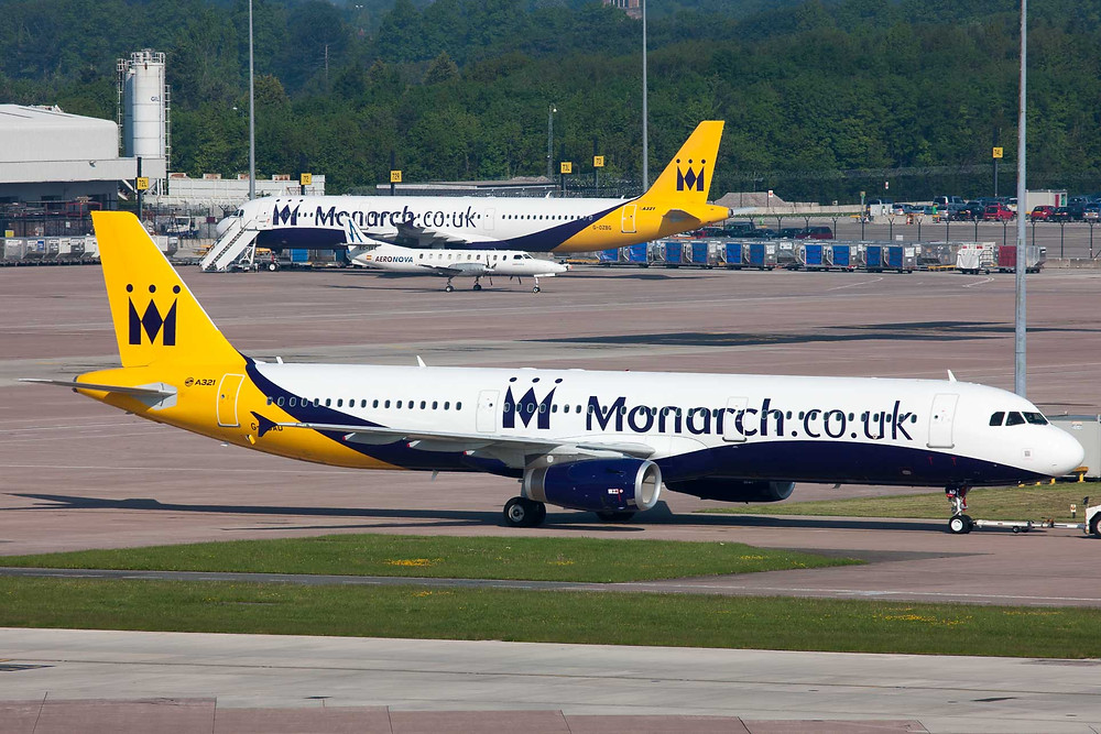 Monarch Airlines A321 at Manchester AIRPORT