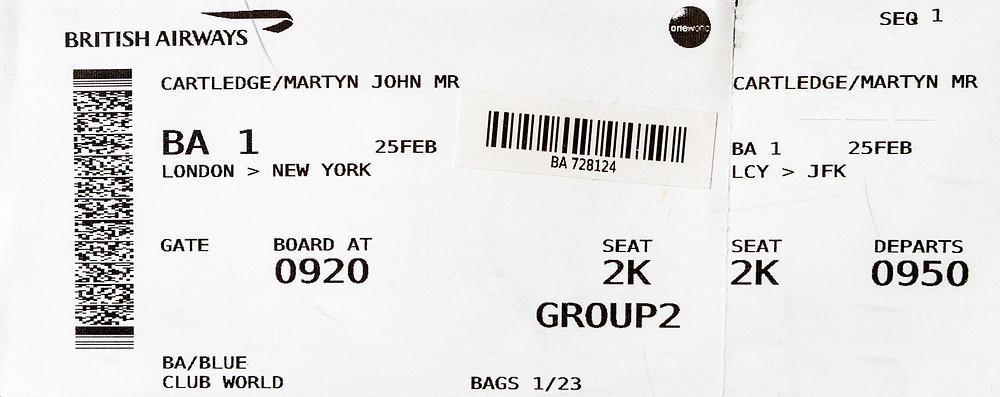 BA001 boarding pass