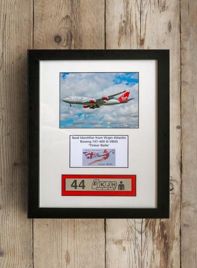 Framed Virgin Atlantic 747 Seat Identifier