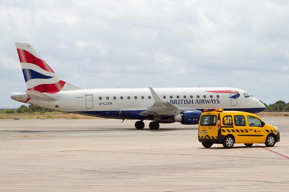 British Airways E170 at Ibiza