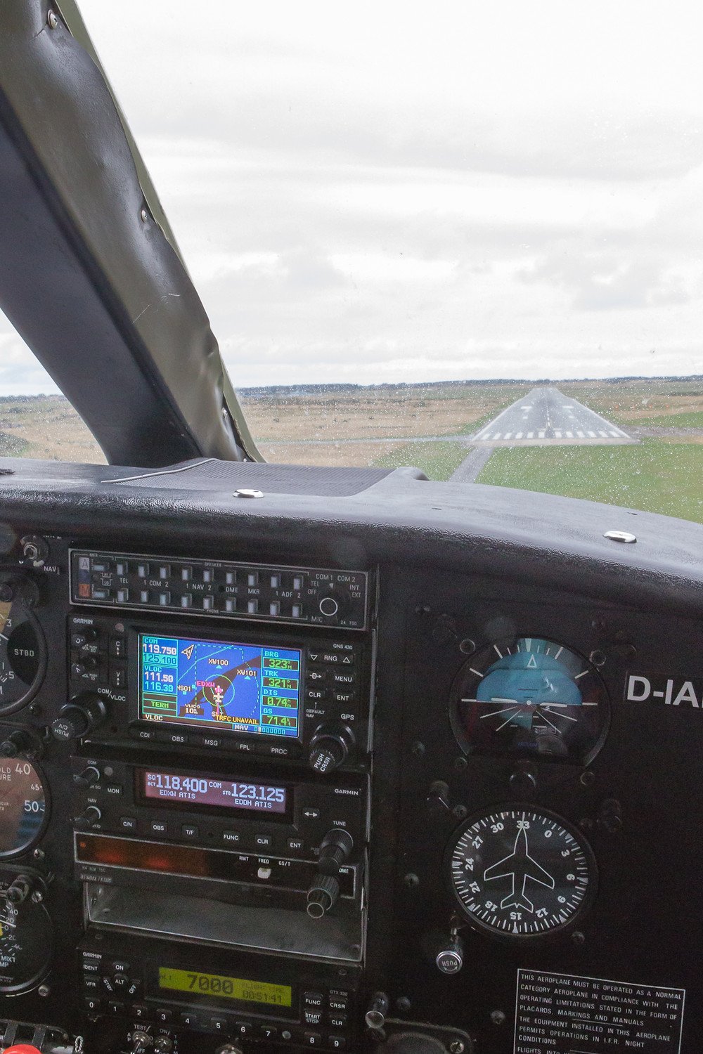 Coming in to land at Sylt
