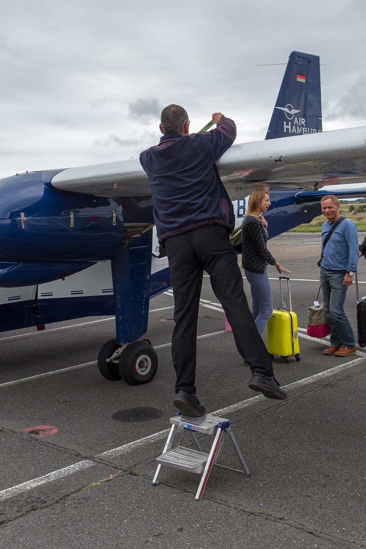 Checking the aircraft