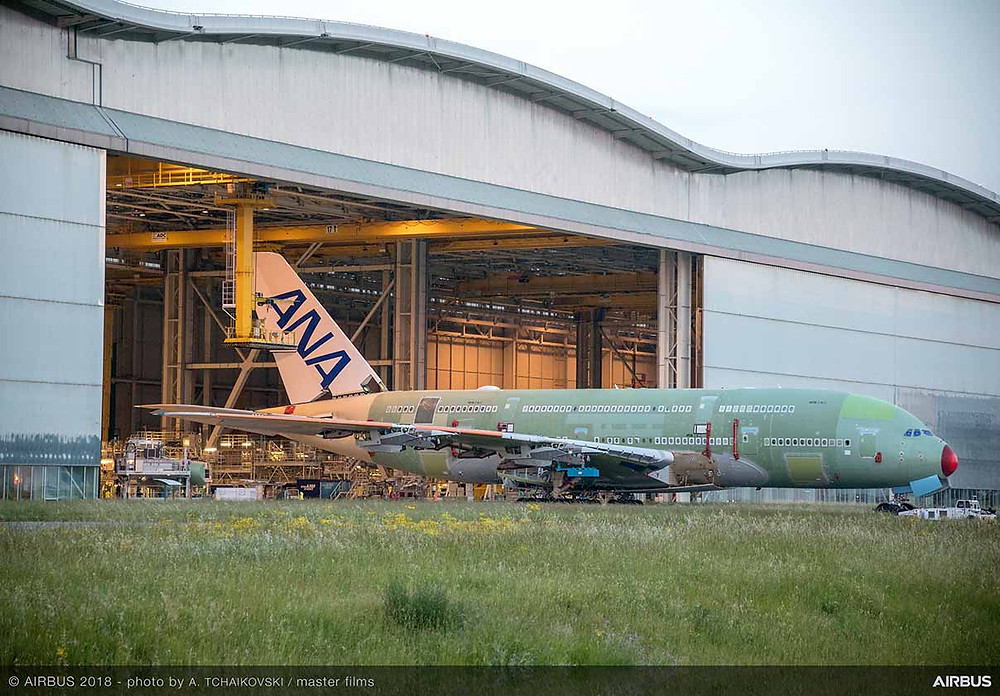 ANA's first A380 roll-out from Station 40