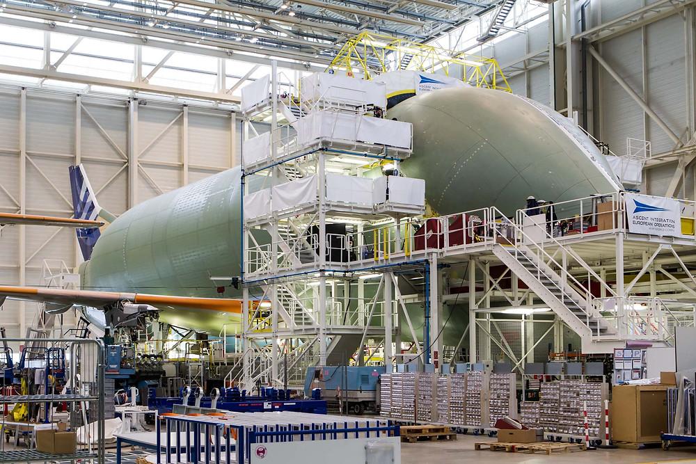 Beluga XL under construction
