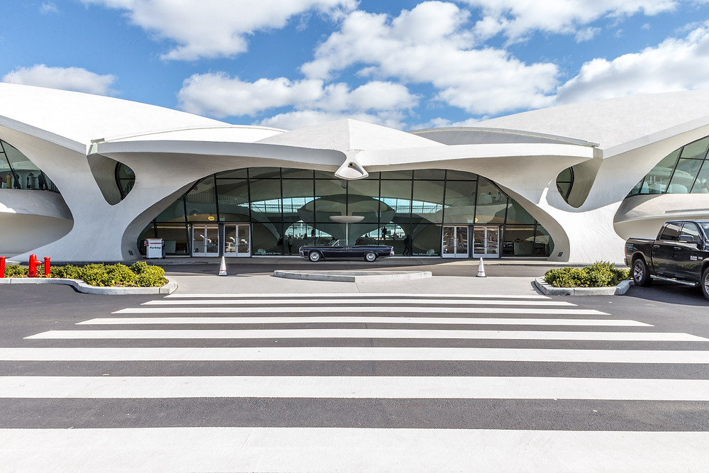 Exterior view of TWA Hotel