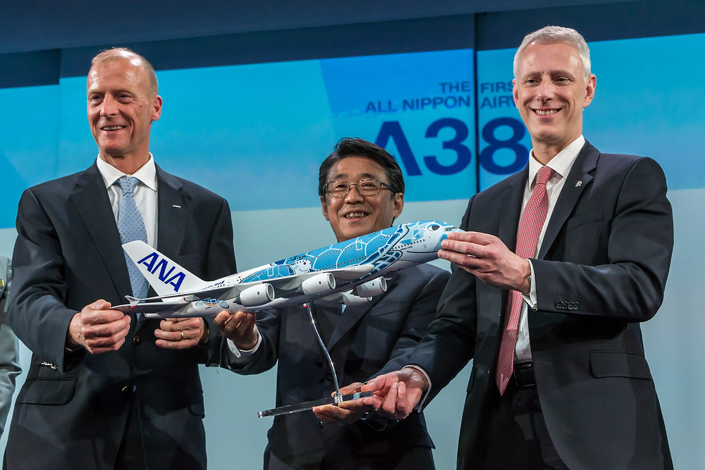 ANA A380 delivery ceremony