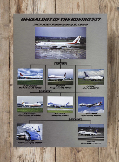 Genealogy of the Boeing 747