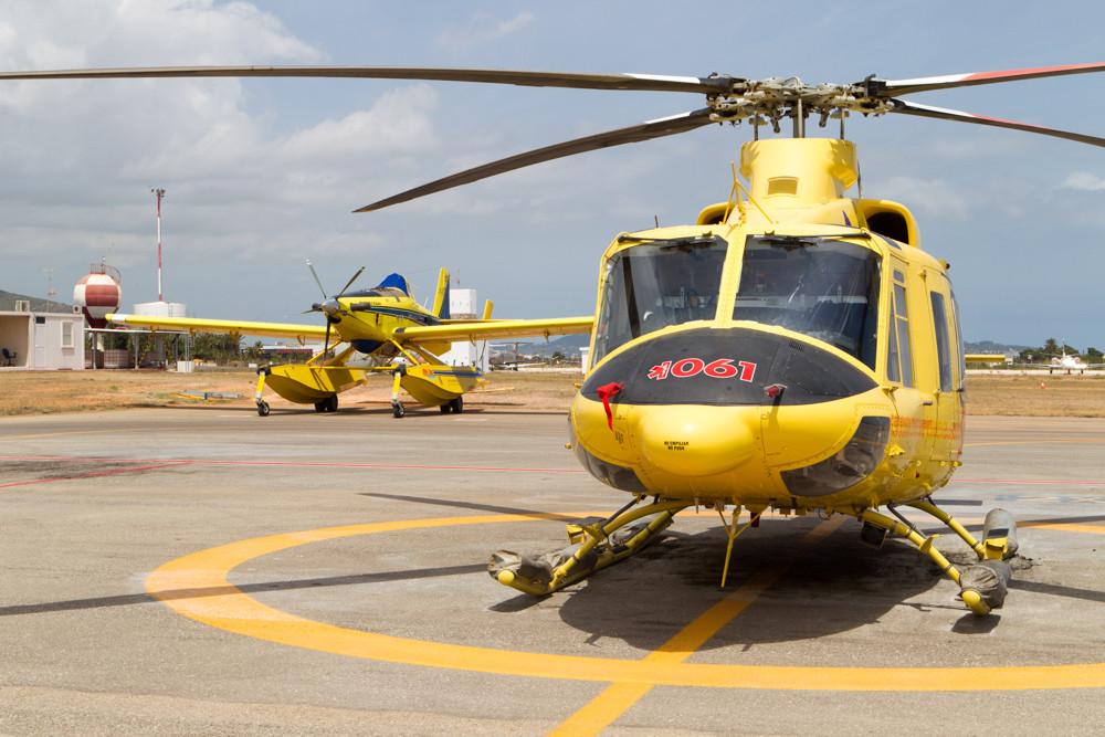 Firefighting aircraft at Ibiza