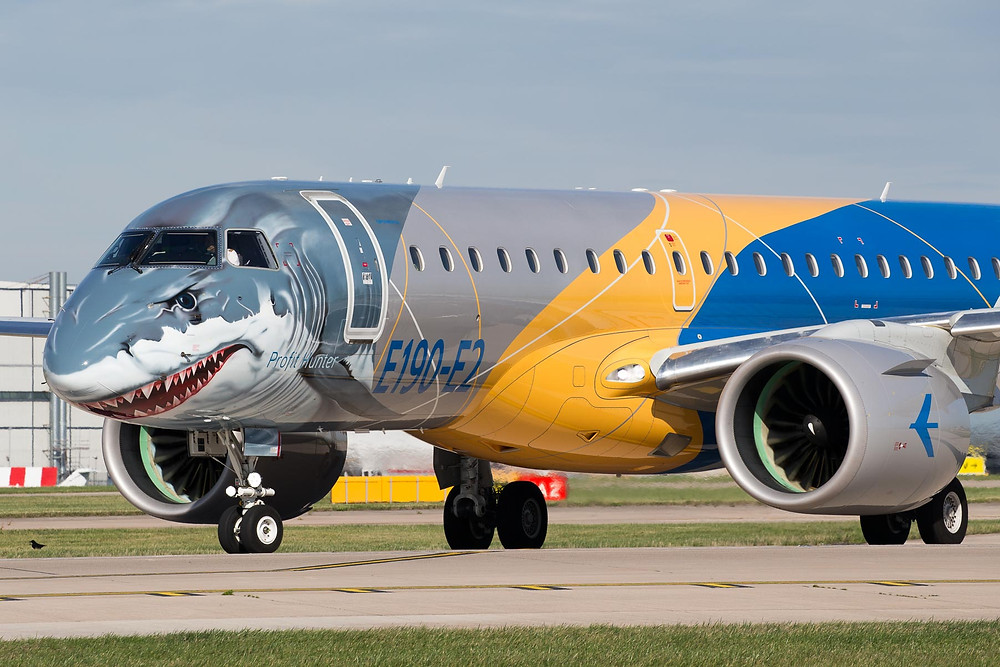 Embraer e190e2 at Manchester