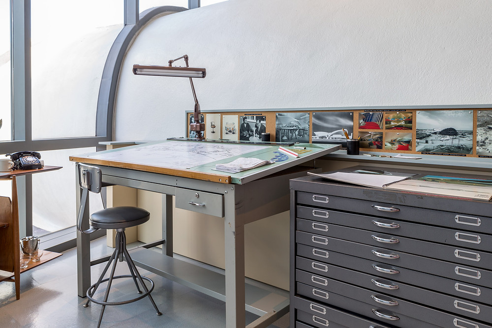 Replica of Saarinens drawing office