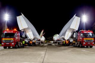 Itinéraries à grand cabaret.                     The A380 convoy
