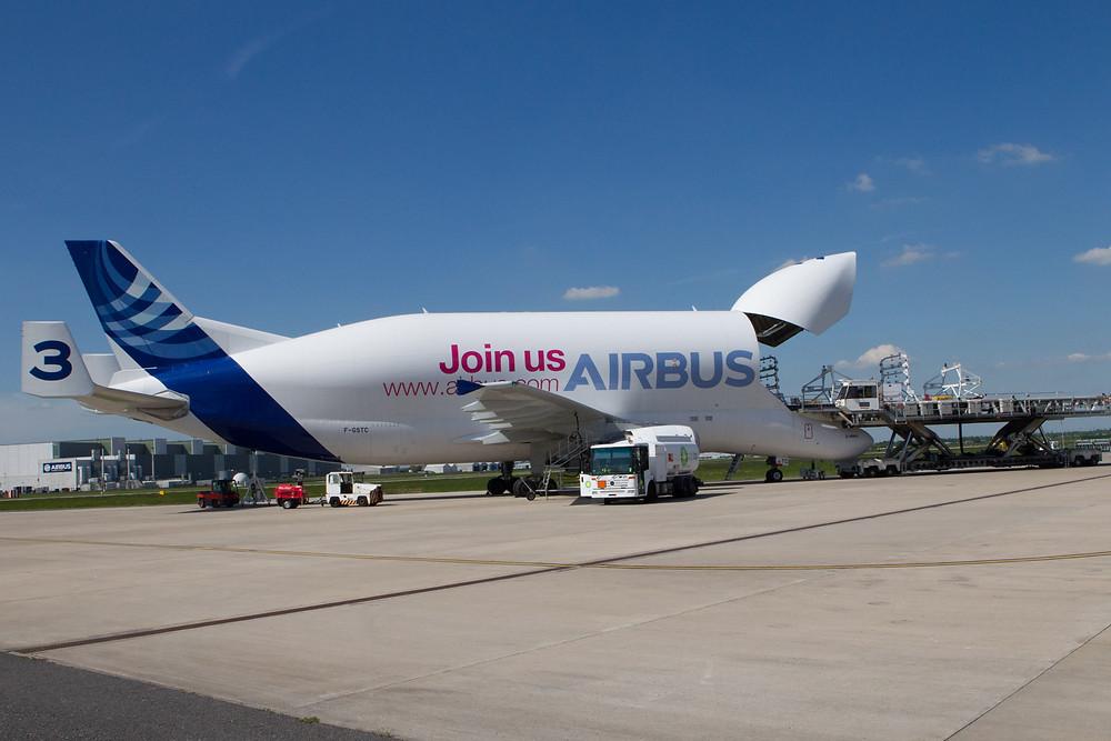 Airbus Beluga ST at Broughton