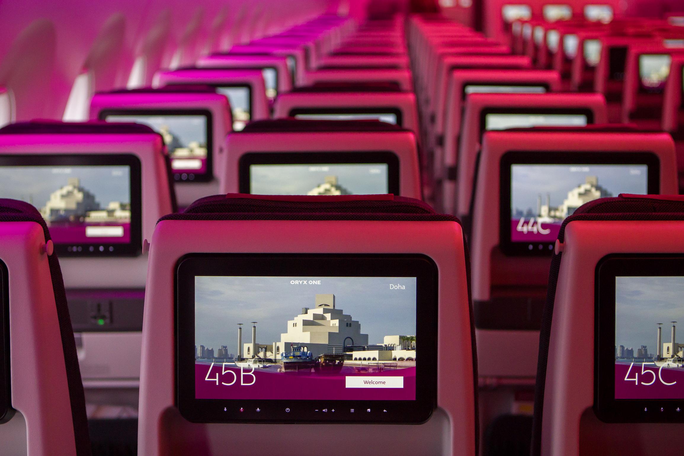 Thai A350 cabin
