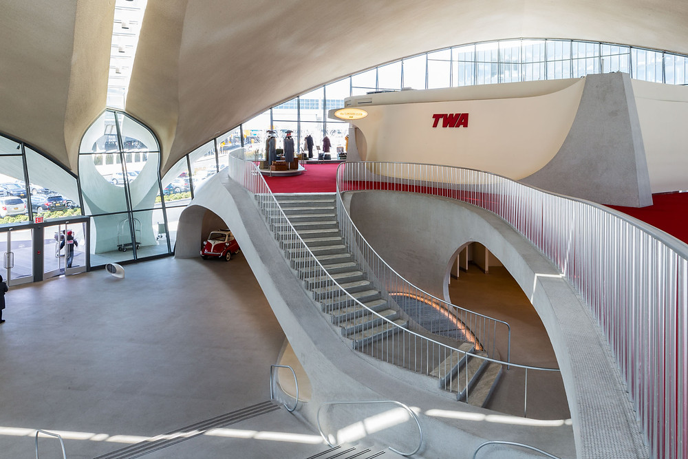 Flowing curves of TWA Hotel
