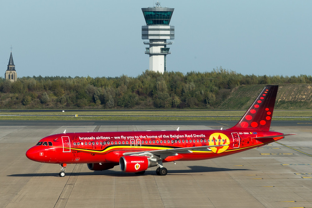 Brussels national red devils a320