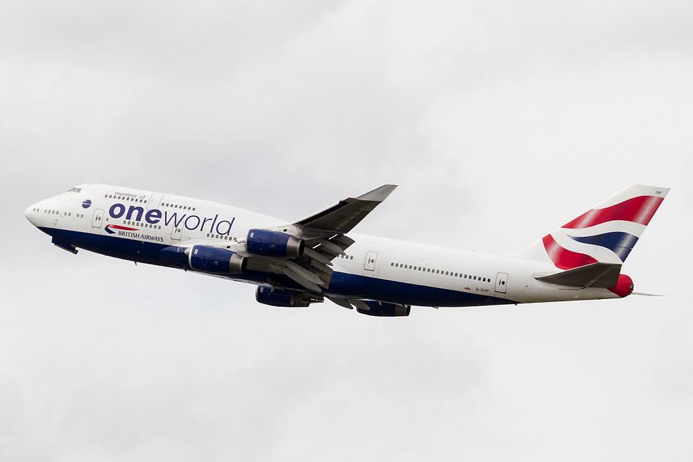 British airways 747 One World