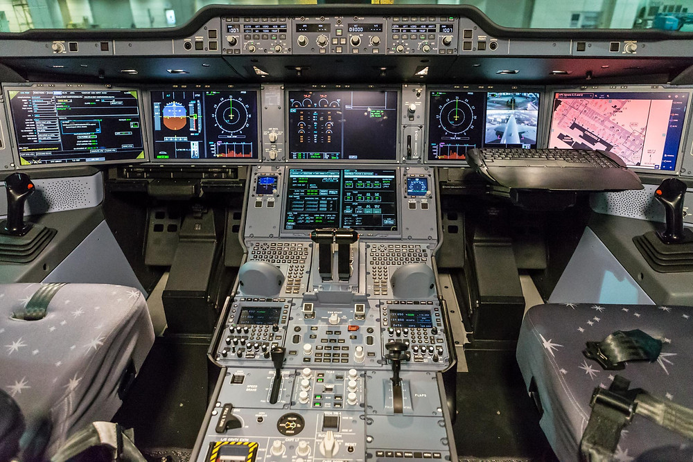 BA A350-1000 cockpit