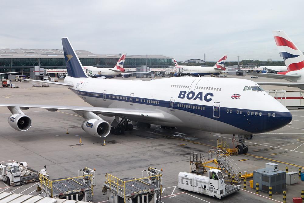 BA BOAC retro 747