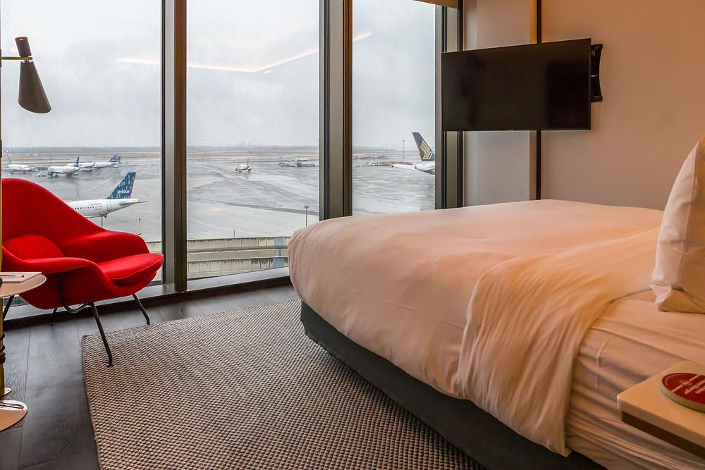 Room view at TWA Hotel