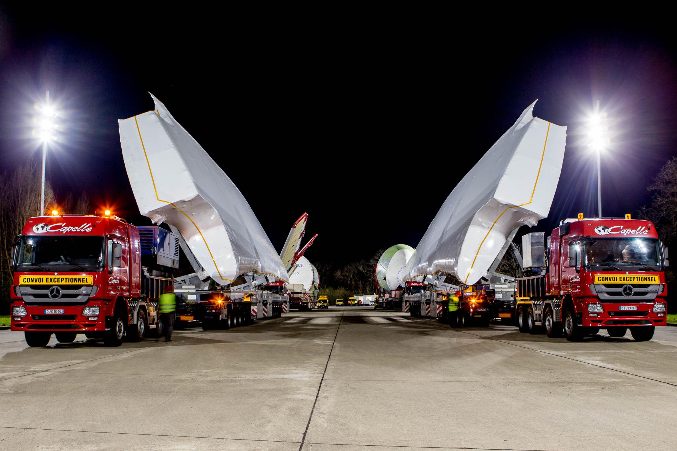 A380 convoy
