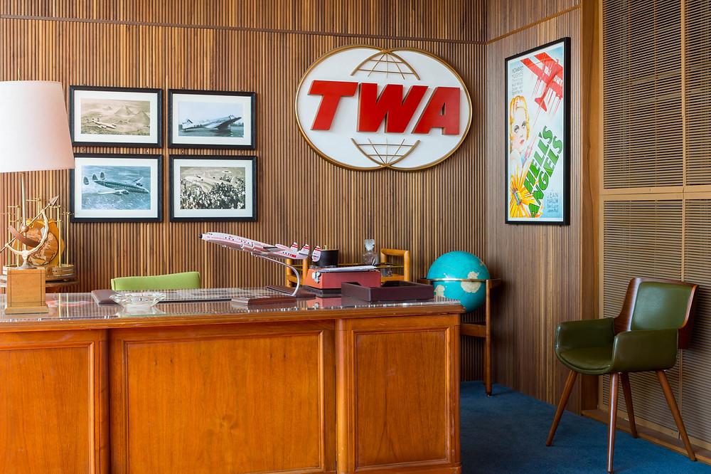Replica of Howard Hughes Office at TWA Hotel