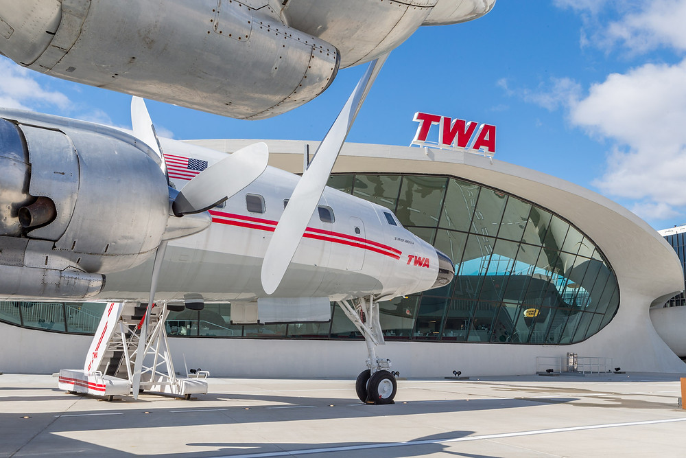 TWA Constellation and Flight Centre building