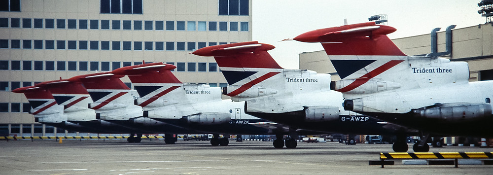 Line up of BA tridents