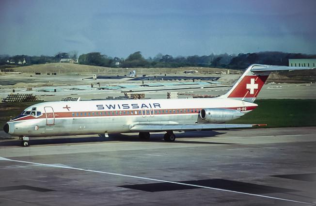 Swissair dc9 an Manchester airport