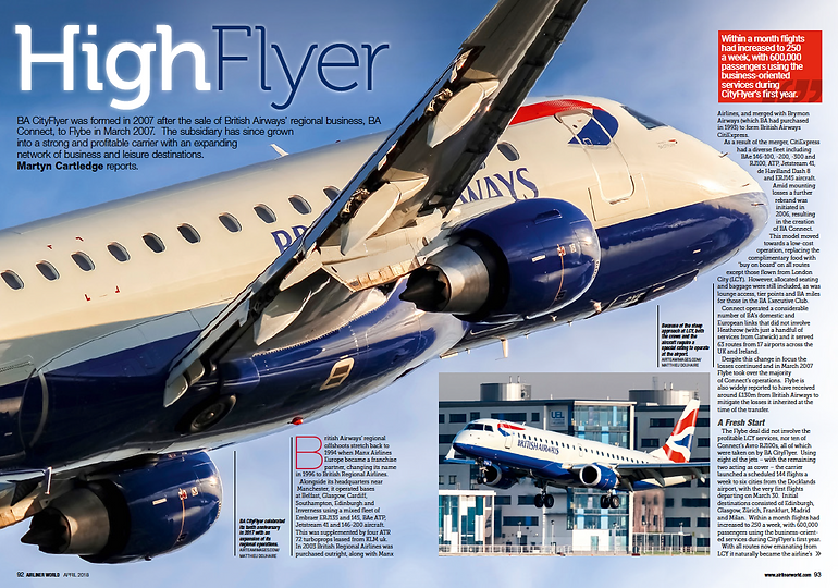 A report on the history of BA Cityflyer
