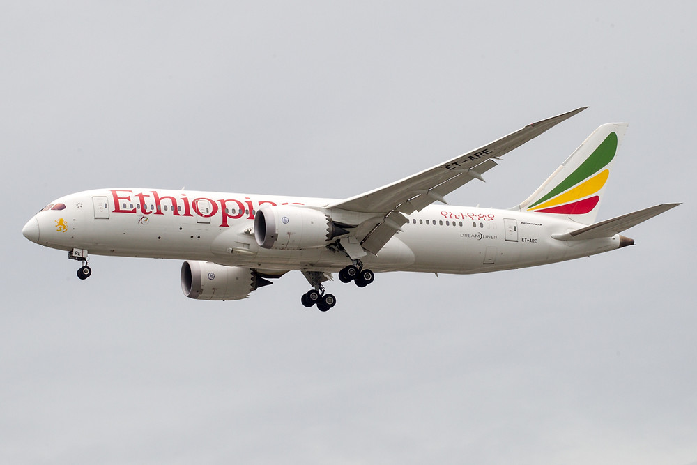 Ethiopian 787 Manchester Addis Ababa December 2018