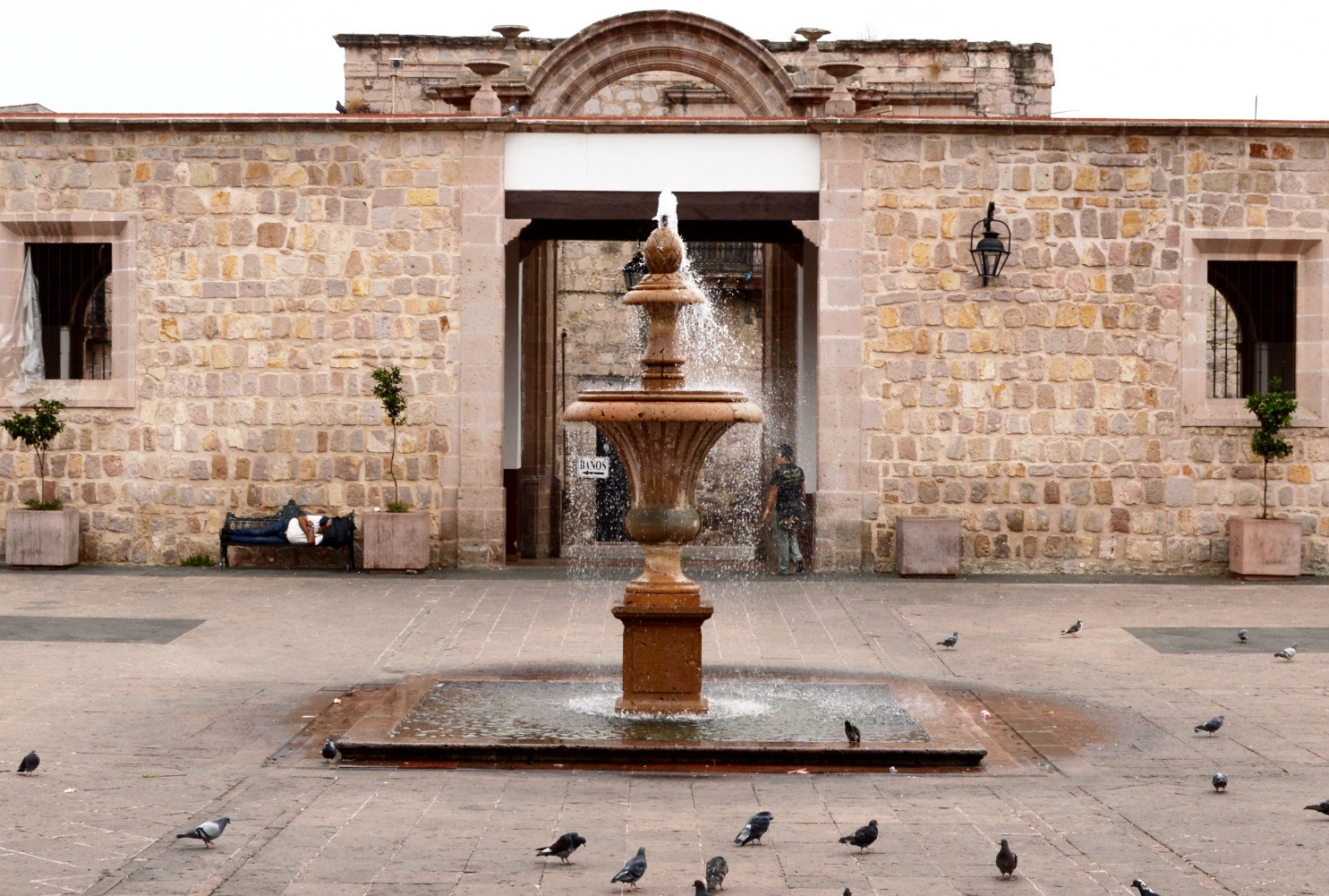 St Augustine Church Courtyard, Morelia Michoacan