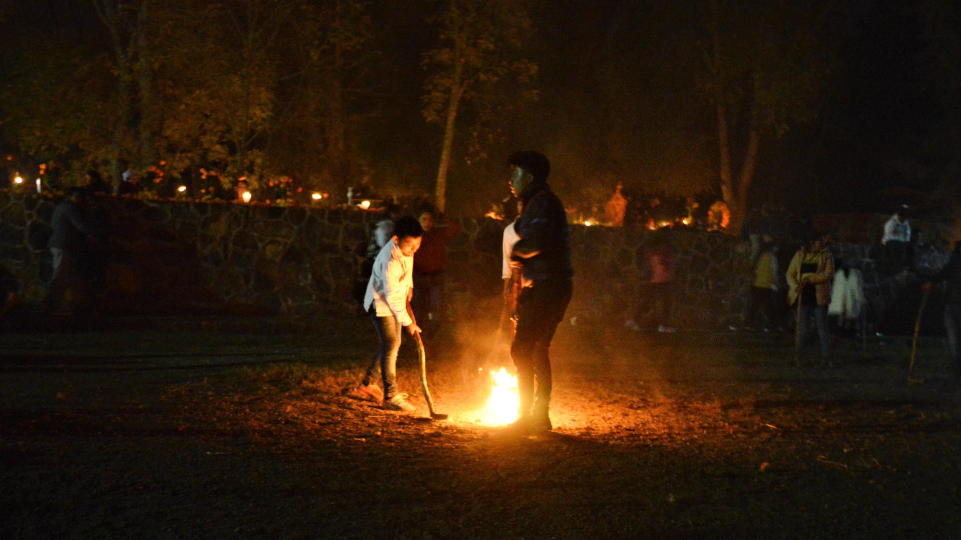 Casona Rosa Dia de los Muertos Fire Ball